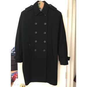 Moschino cheap and chic label black coat